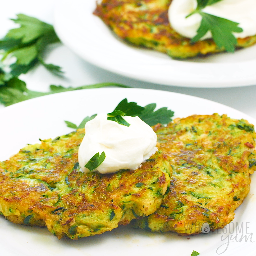 Easy Italian Keto Low Carb Zucchini Fritters Recipe