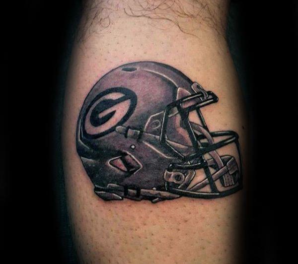 70 Football Tattoos For Men Nfl Ink Design Ideas Football Tattoo Tattoos For Guys Green Bay Packers Tattoo