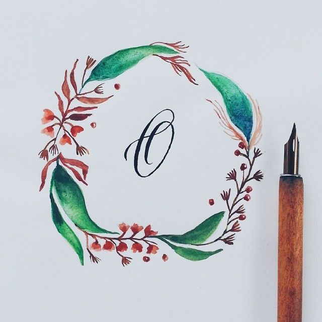 Ohhhh wreaths, I'm just fascinated with you these days :) #calligrafikas #dippen #nibs