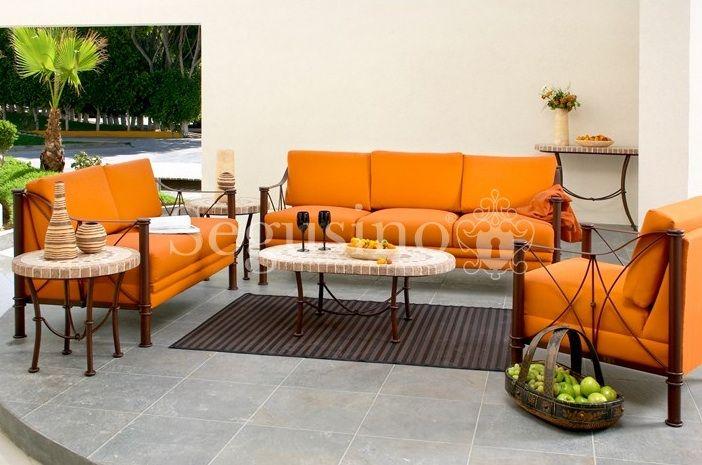 Sala de hierro forjado salas pinterest hierro for Muebles de fierro forjado