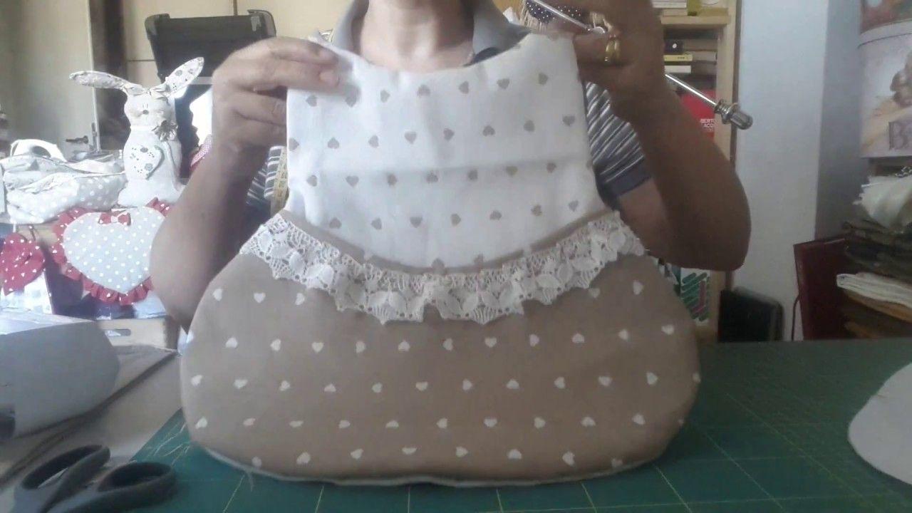 Tutorial 67 Portamollette tessuto cucito cartamodello ...