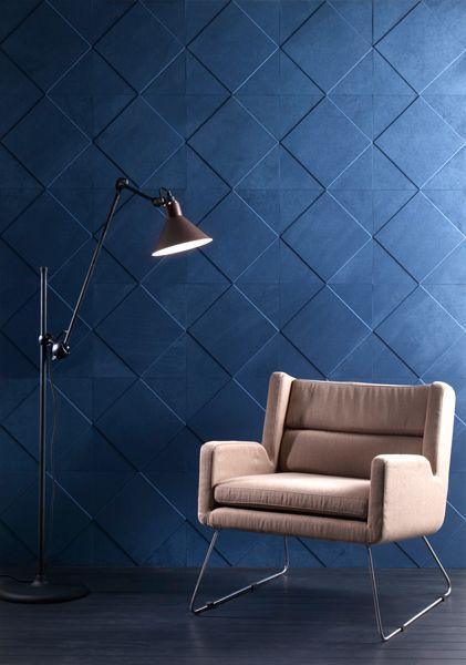 Cuir au Carré bespoke leather tiles | Idées habillage mural ...