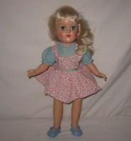 "1950's Ideal 14"" HP Platinum Blonde Toni Doll In Tagged Dress P-90  MJ13"