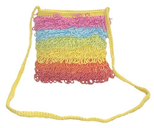 EcoFresh Trading Hand Crocheted On the Fringe Shoulder Satchel (Pastel Rainbow) ** Want additional info? Click on the image.
