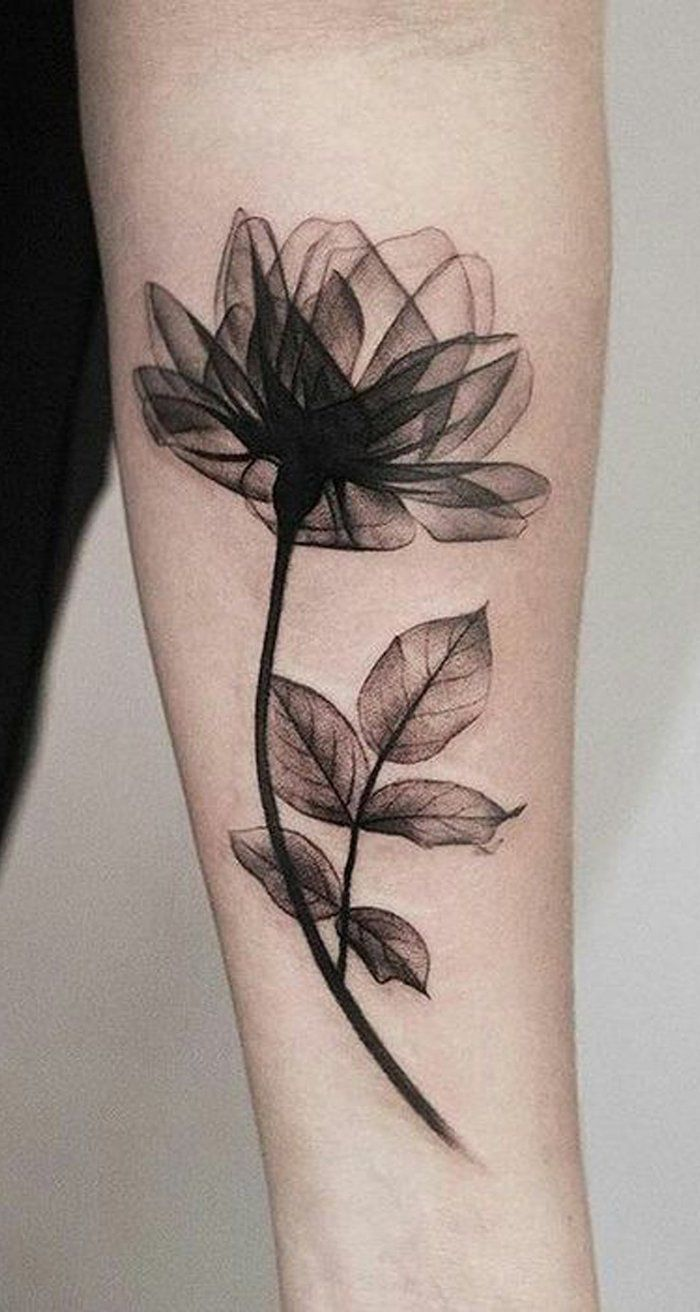 #schwarzen #tattoos #frauen #bilder #tattoo #blume #einer #einem #ideen #thema #groes #hand #wand #w...