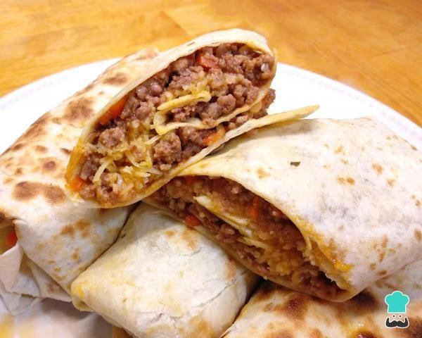 Receta de Burritos de carne y queso