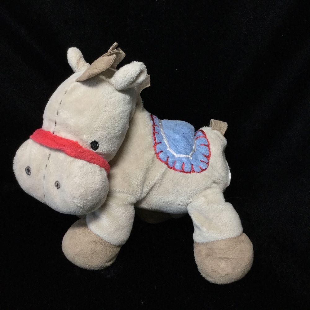 Just One Year Tan Blue Horse Pony Plush Soft Toy Stuffed Animal 8