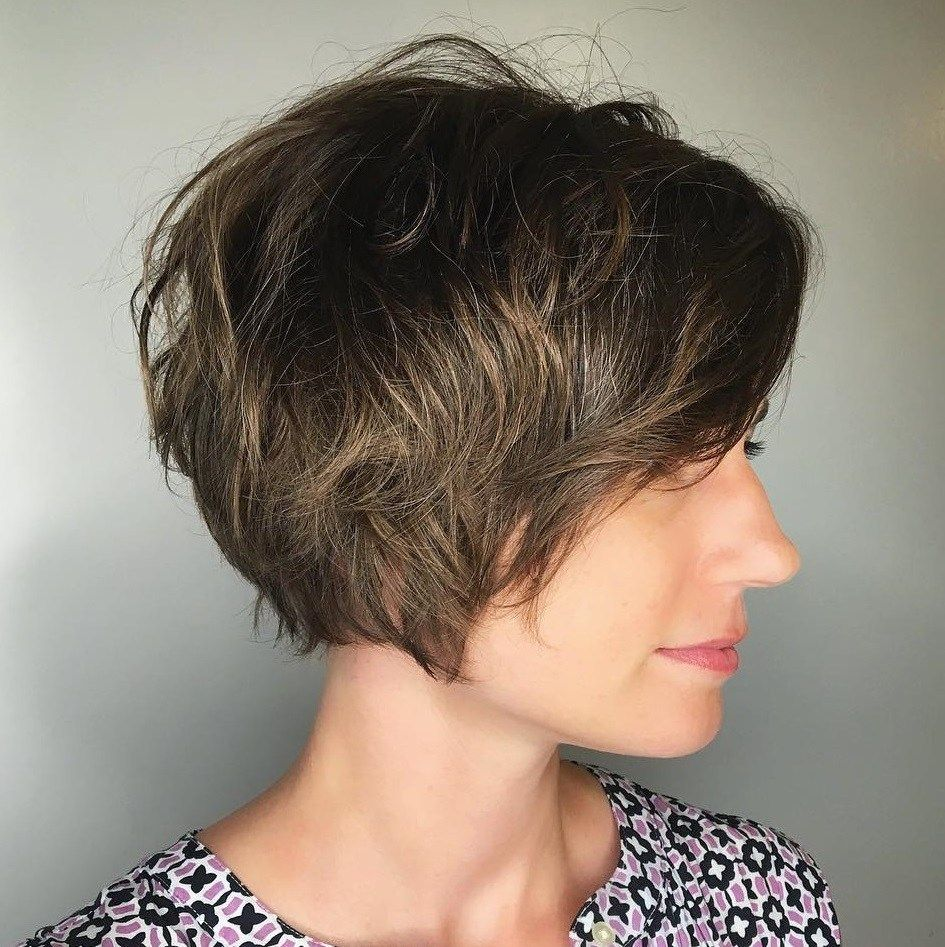 60 Classy Short Haircuts And Hairstyles For Thick Hair Thick Hair Styles Short Messy Haircuts Short Layered Haircuts