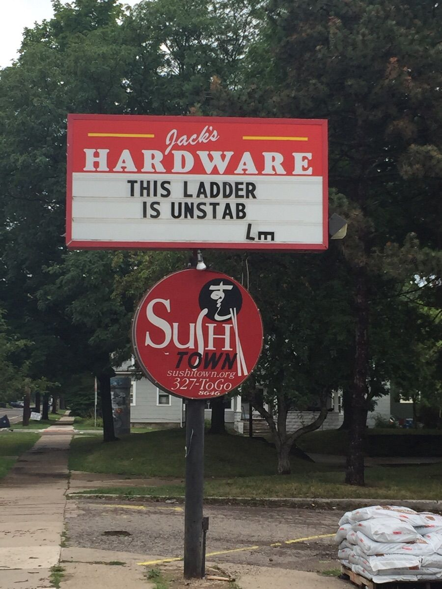 Funny Hardware Store Signs
