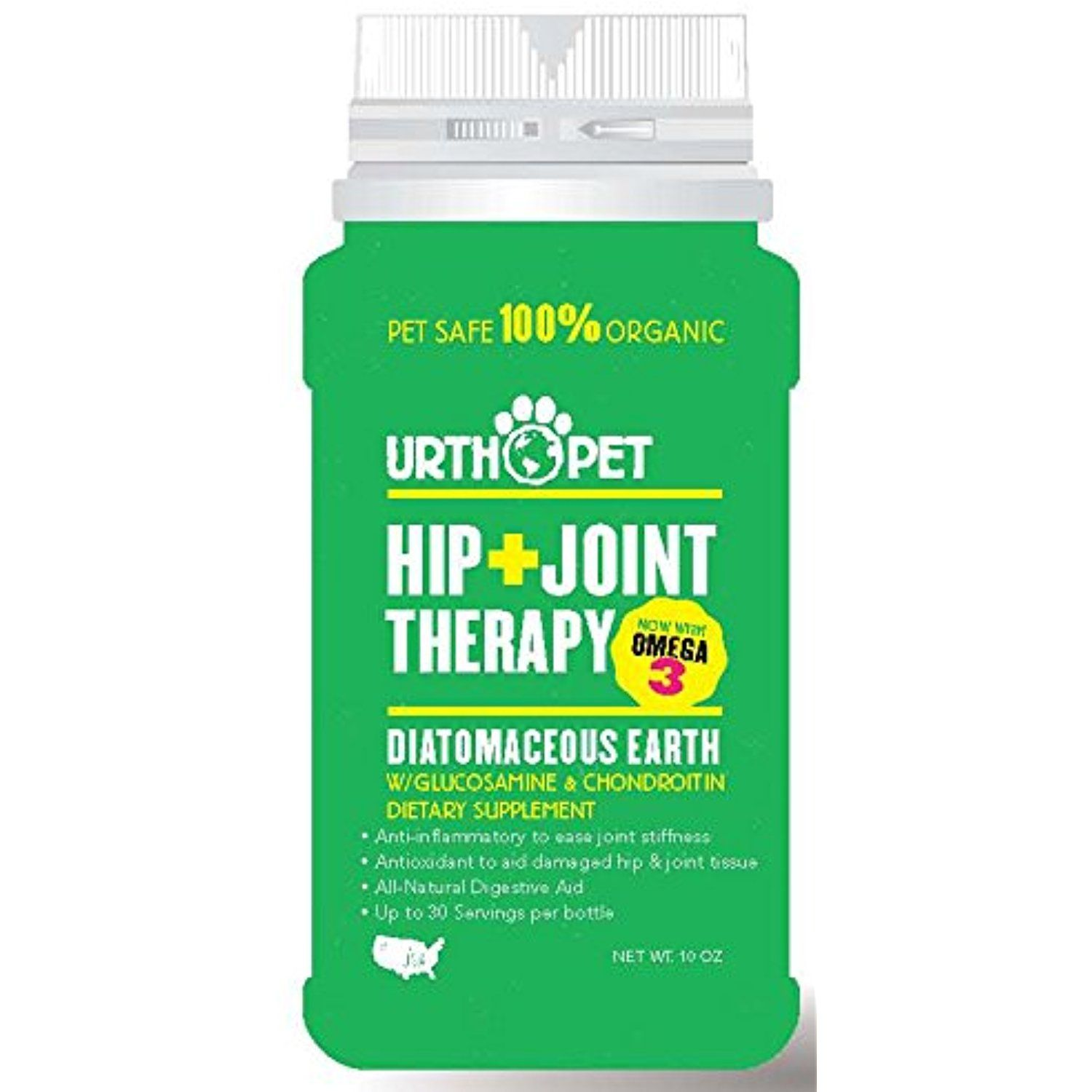 UrthPet Hip and Joint Therapy Diatomaceous Earth with