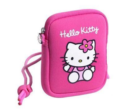 Diese Hülle mit Hello Kitty drauf ist perfekt, um die Digitalkamera der Kinder sicher aufzubewahren.