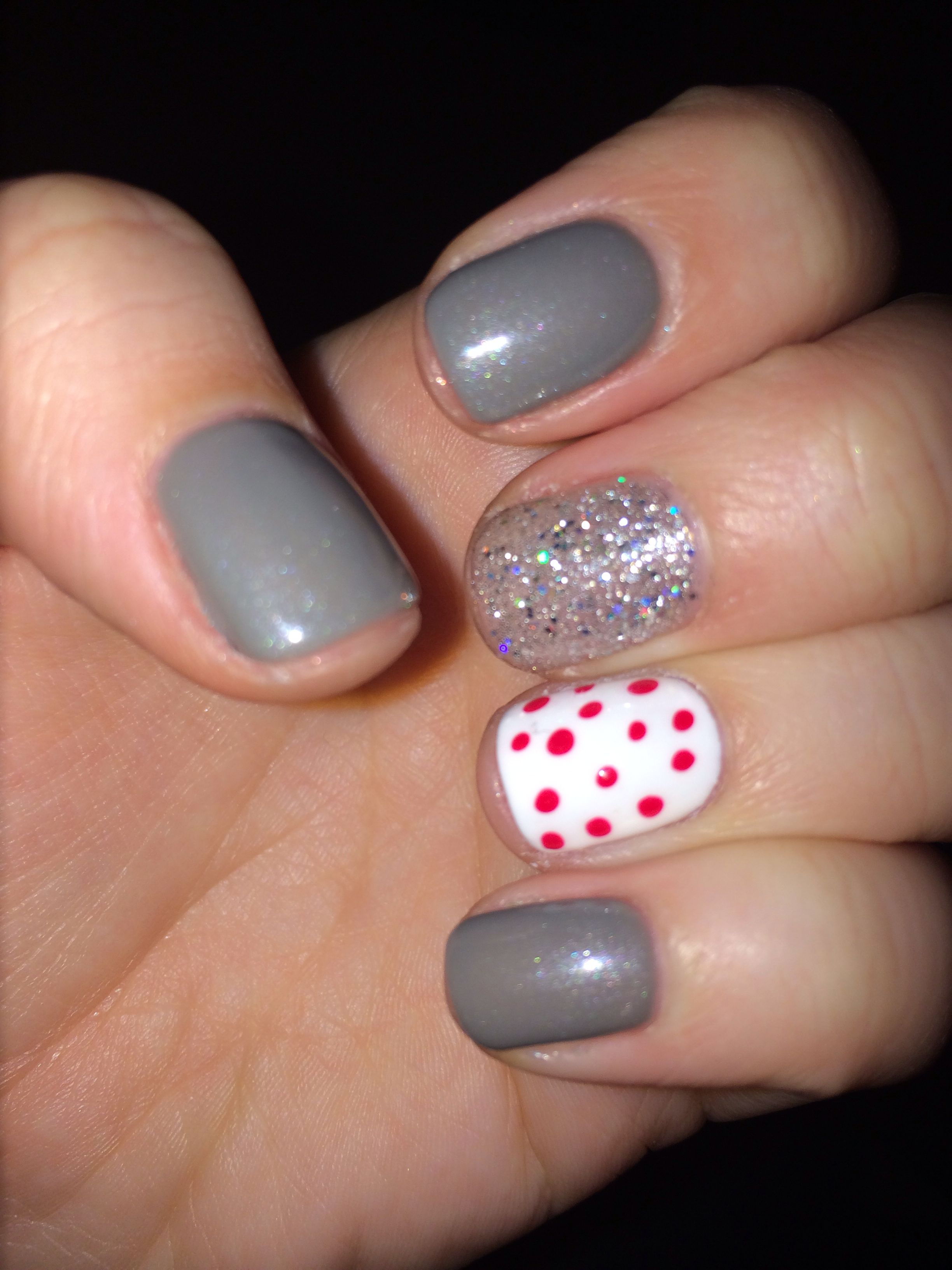 Winter fun gel nails | Nails | Pinterest