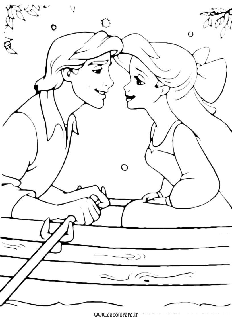Sirenetta E Principe Disegni Da Colorare Disegni Immagini