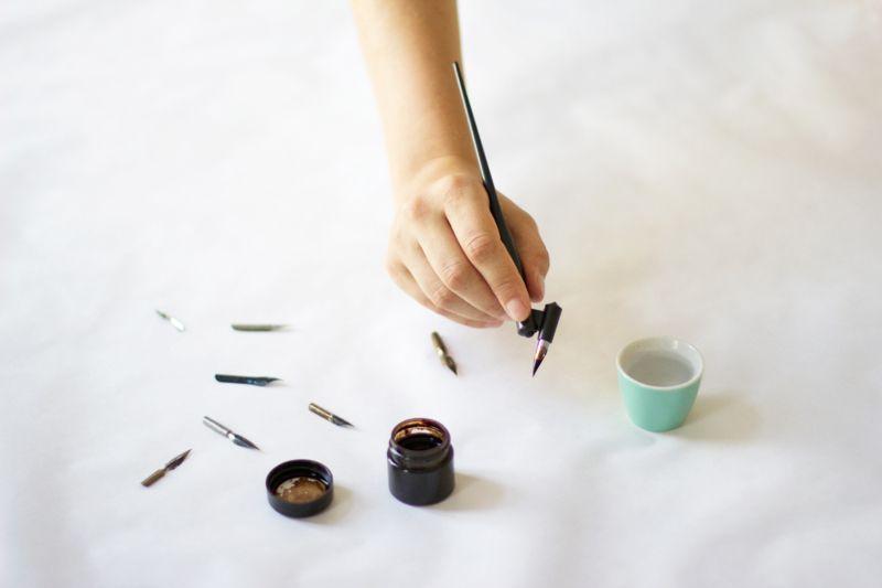 DIY Kalligraphie Material | we love handmade
