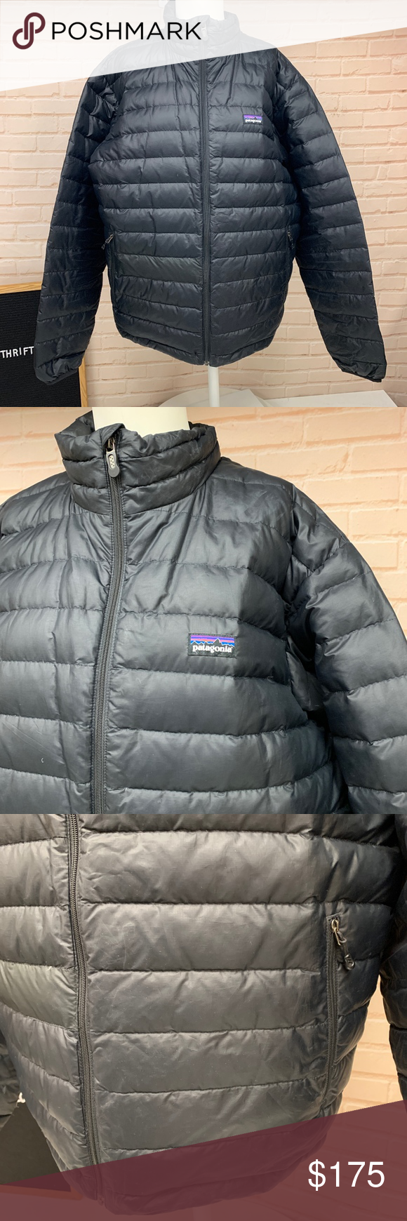 Patagonia Down Filled Puffer Jacket Dark Gray Jackets