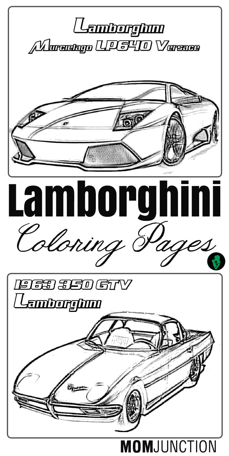 Top 9 Free Printable Lamborghini Coloring Pages Online Coloring
