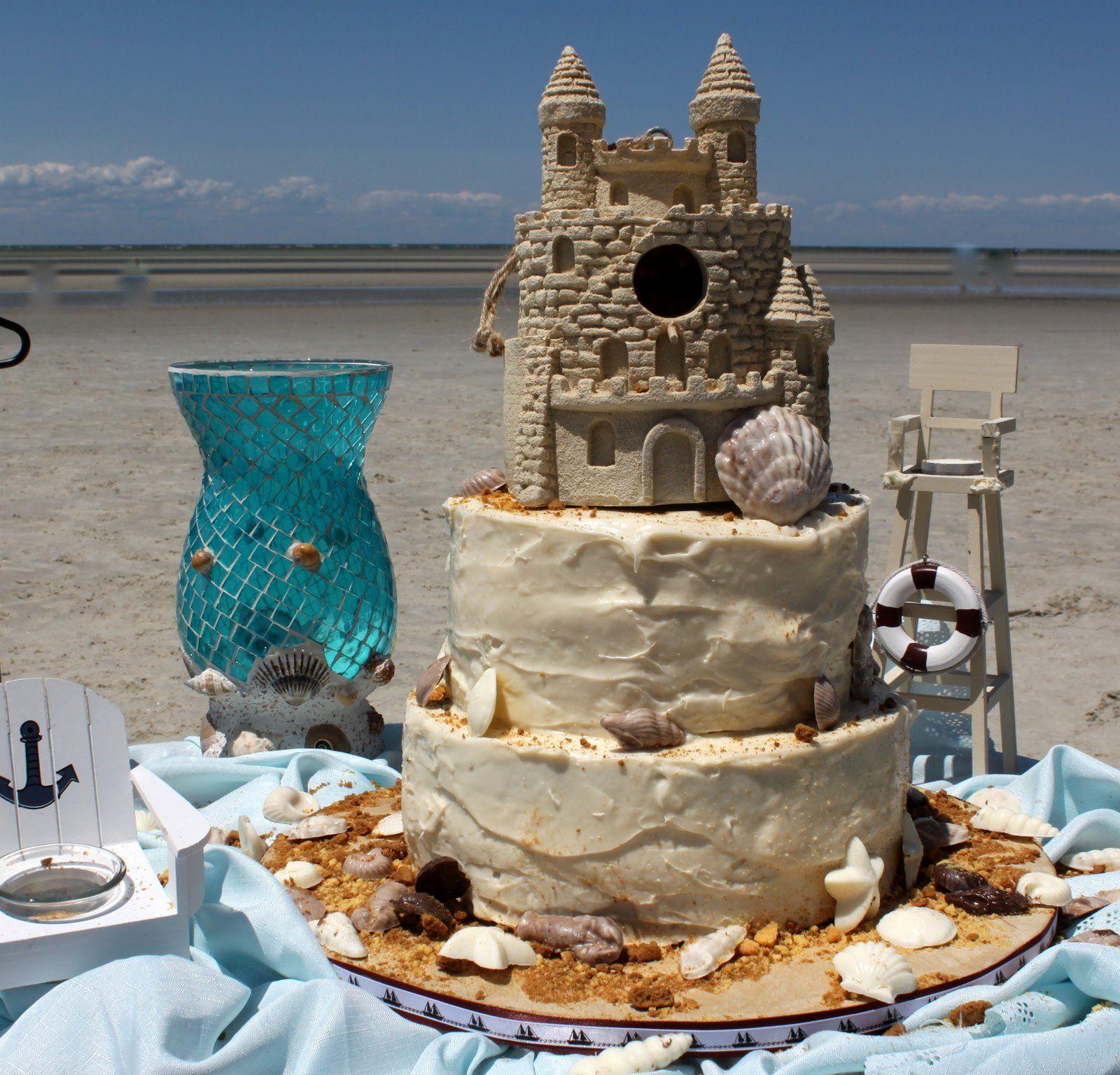 Sandcastle cake whoa! 25 anniversary cake, Anniversary