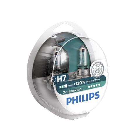 Komplekt 2 Krushki Za Predni Farove Na Kola Philips H7 X Treme Vision 130 12v 55w Cena 39 99lv Http Pr Headlight Bulbs Car Headlight Bulbs Philips