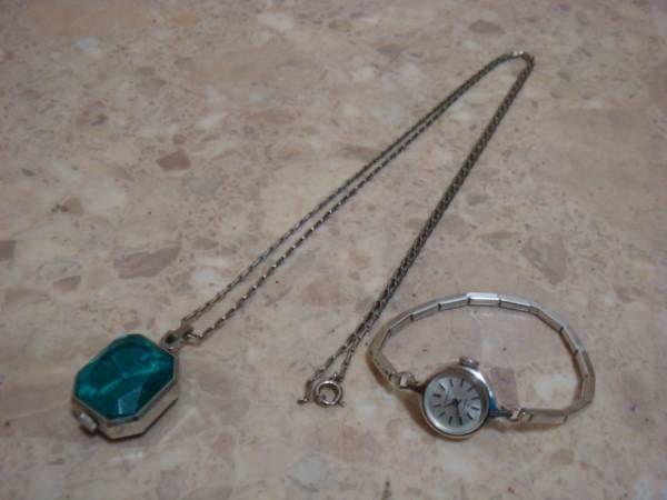 本物セイコーSEIKOアンティークネックレス時計&腕時計セット ¥5000円 〆02月24日