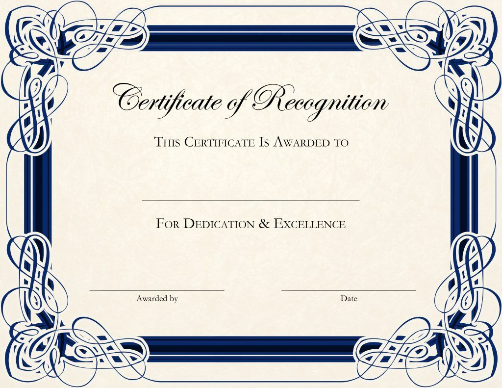Wonderful Certificate Template Designs Recognition Docs And Official Certificate Template