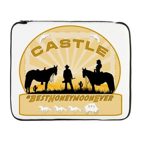 #Castle Beckett #Laptop Sleeves Best Honeymoon Ever cases and other designs #RichardCastle  For this design CLICK HERE  http://www.cafepress.com/dd/94890059
