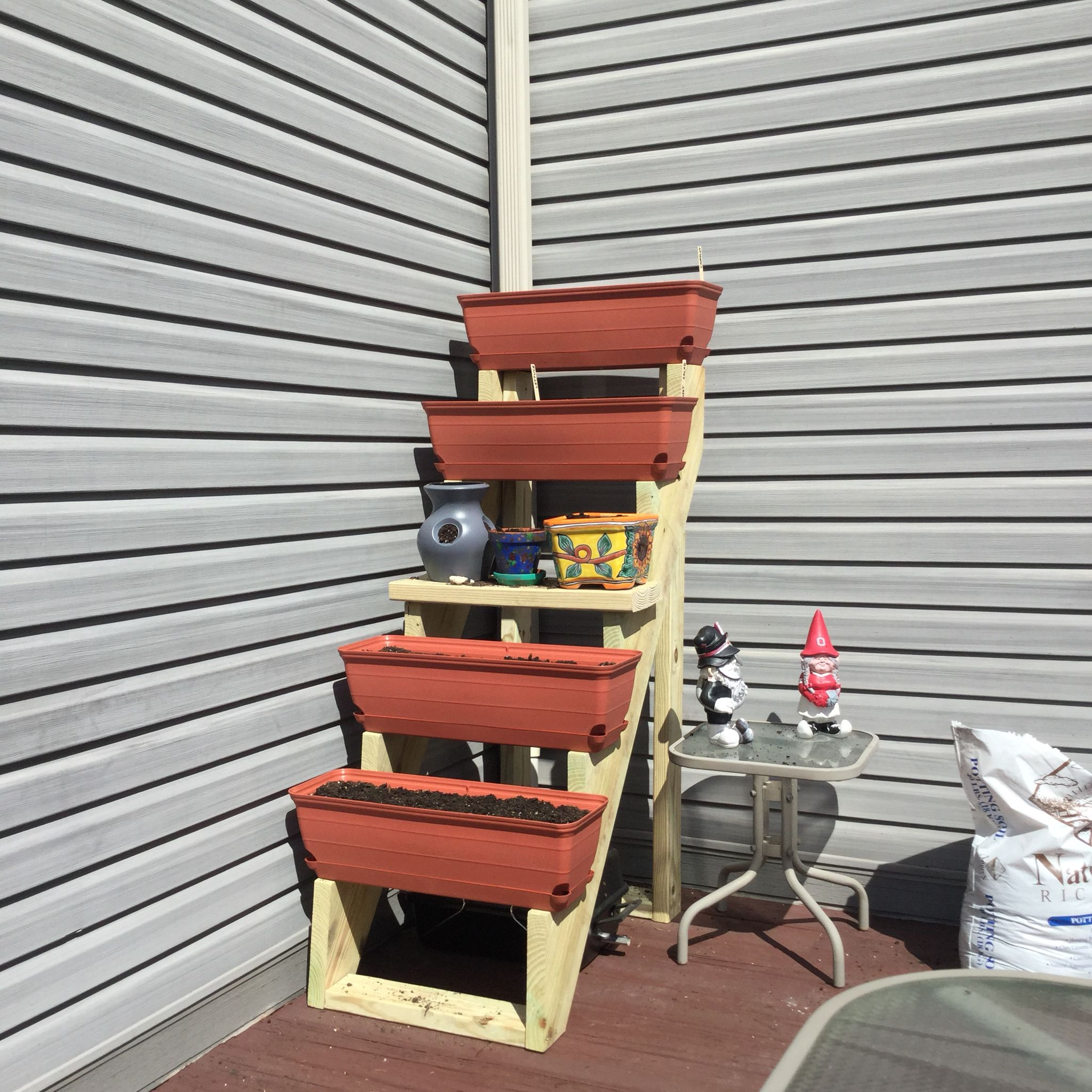 We Built This With Premade Stair Stringers From Home Depot   Premade Stairs For Outdoors