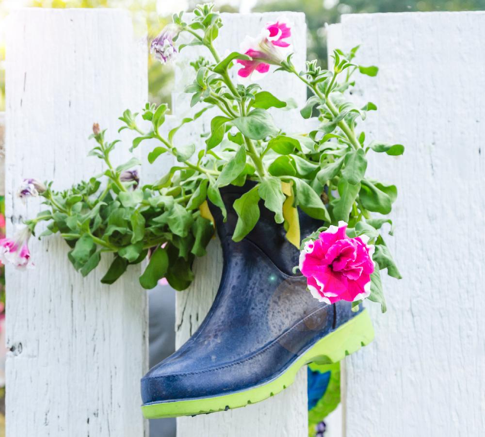 Photo of #Gartendeko #machen # Sie haben schon einmal einen Gummistiefel gepflanzt? Od …