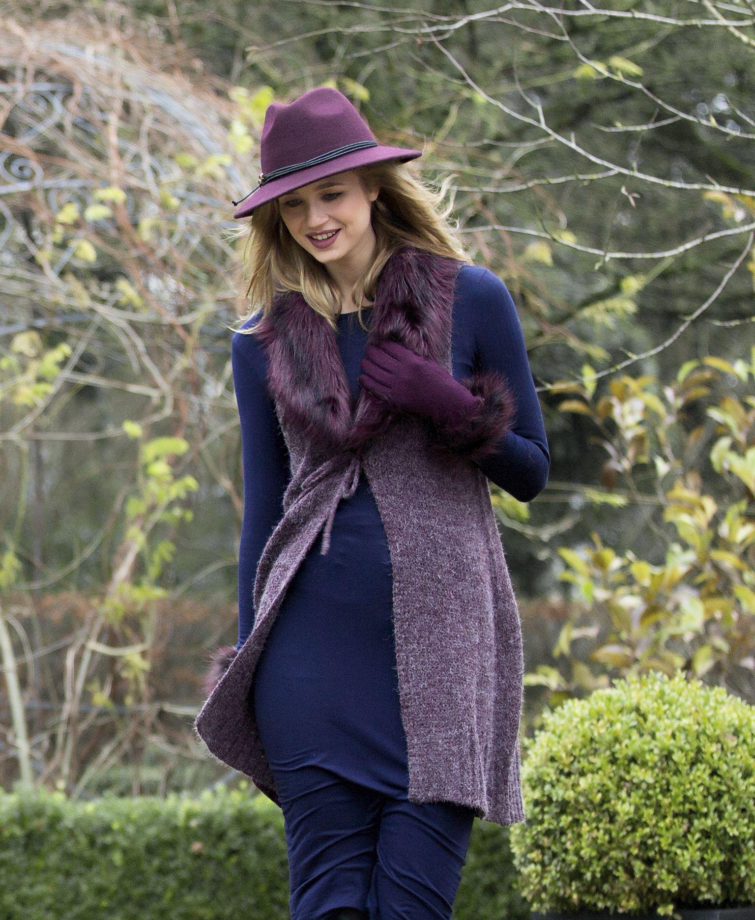 Cosy Winter Walks in Pia Rossini Waistcoat, fur wool