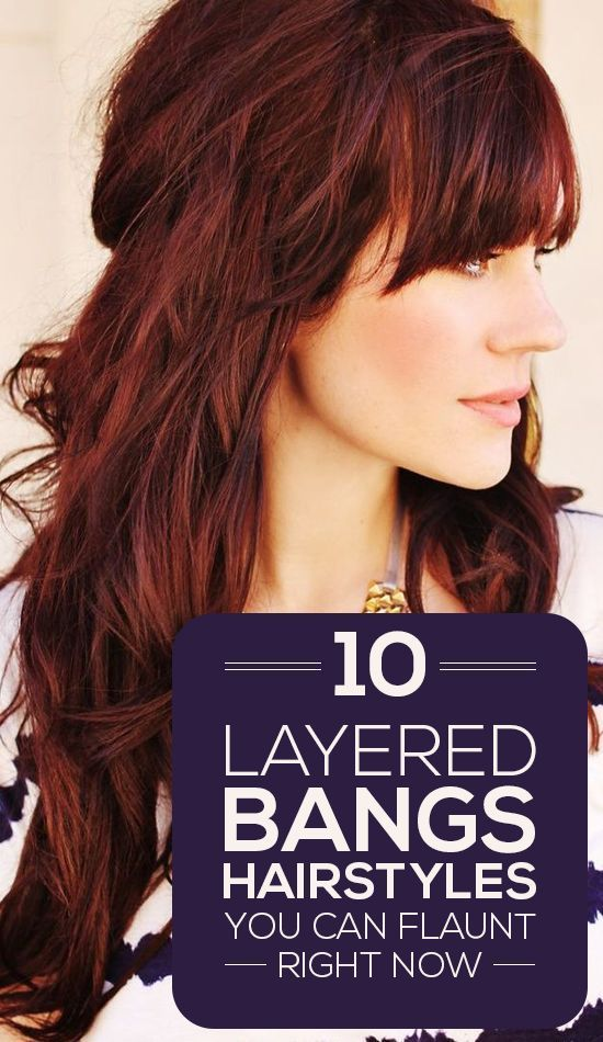 10 Layered Bangs Hairstyles You Can Flaunt Right Now | Pinterest ...