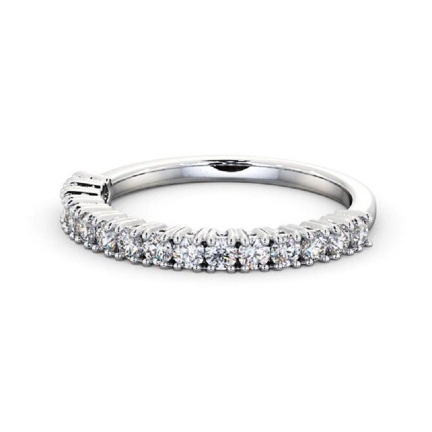IGI Certificate Round Diamond Claw Set Half Eternity