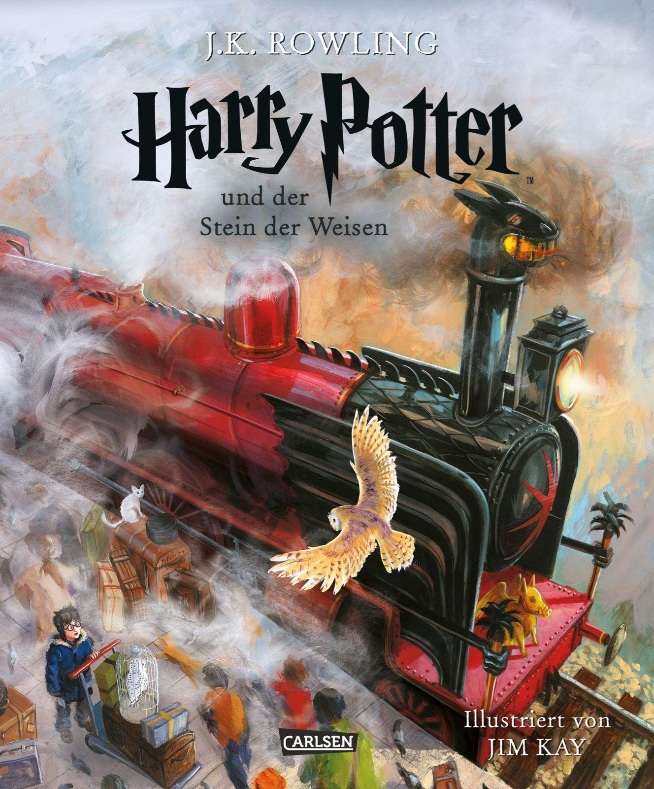 Harry Potter Band 1 Harry Potter Und Der Stein Der Weisen Vierfarbig Illustrierte Schmuckausgabe Joann Stein Der Weisen Kinderbucher Rowling Harry Potter