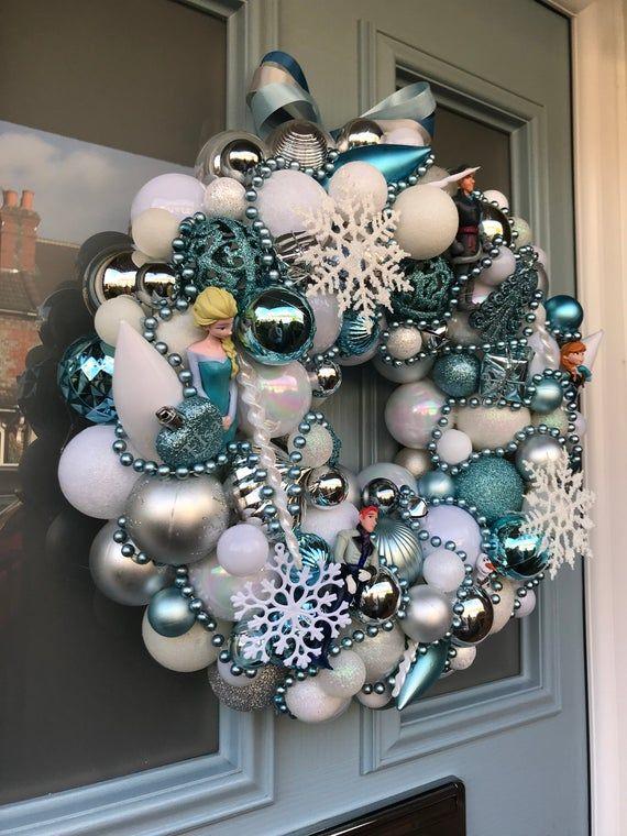 Bauble wreath - Do you wanna build a snowman?