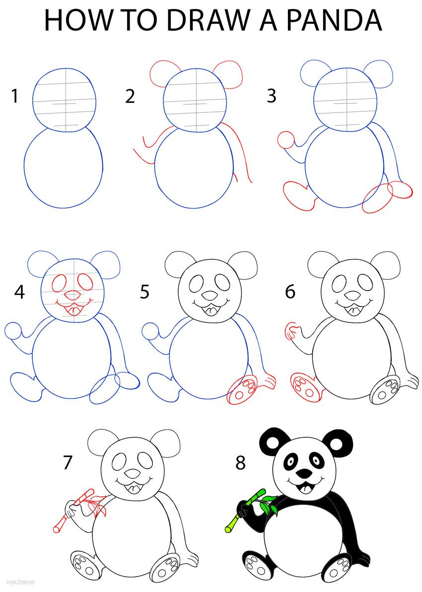 How To Draw A Panda Step By Step Drawing Tutorial With Pictures