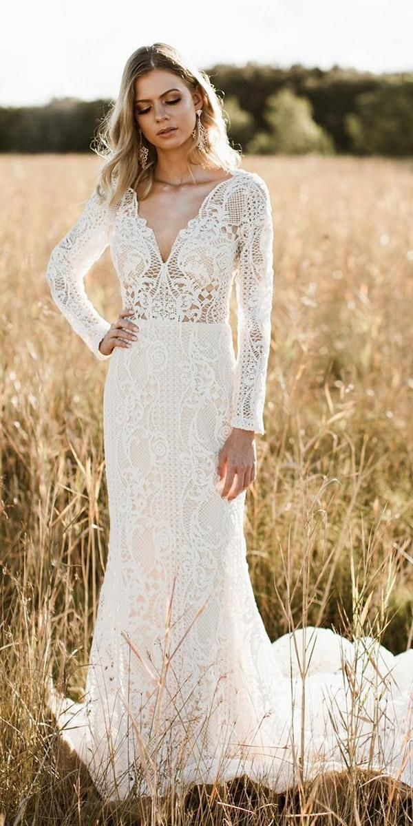 24 Rustic Wedding Dresses To Be A Charming Bride | Rustic