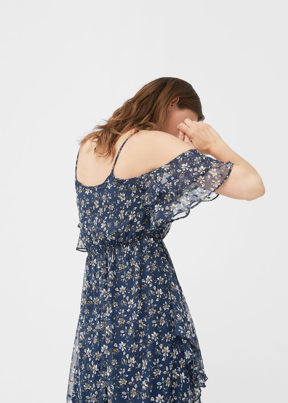 bb6e87846f89 Φόρεμα έξωμο εμπριμέ - Γυναίκα