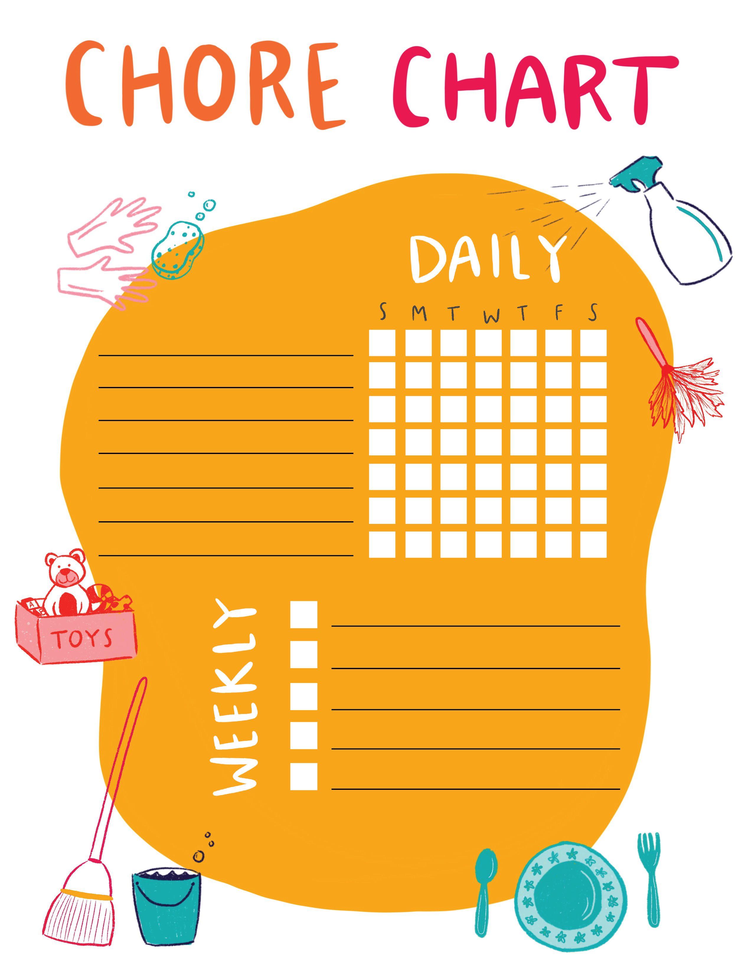 Chore Chart Printable For Kids