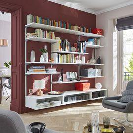 Bibliothèque modulable 400€ Castorama | Décoration maison, Rangement mural, Maison