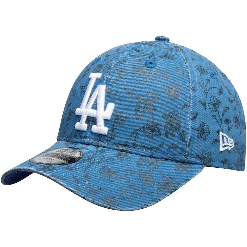 ec1e3a33 Los Angeles Dodgers New Era Girls Youth Floral Peek 9TWENTY Adjustable Hat  – Royal