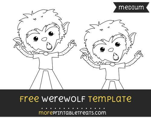 Free Werewolf Template - Medium Halloween Printables Pinterest - halloween template