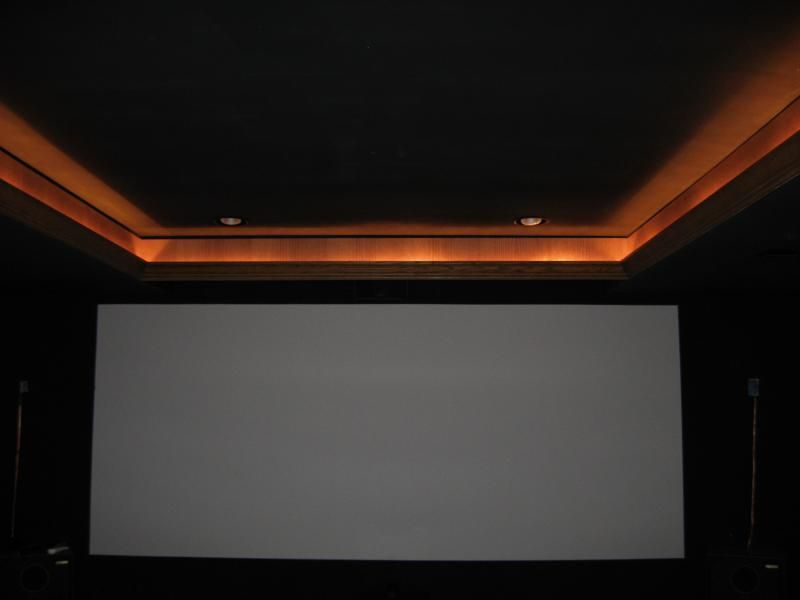 Home theatre with rope lighting in crown molding & Home theatre with rope lighting in crown molding | Home Theatre ...