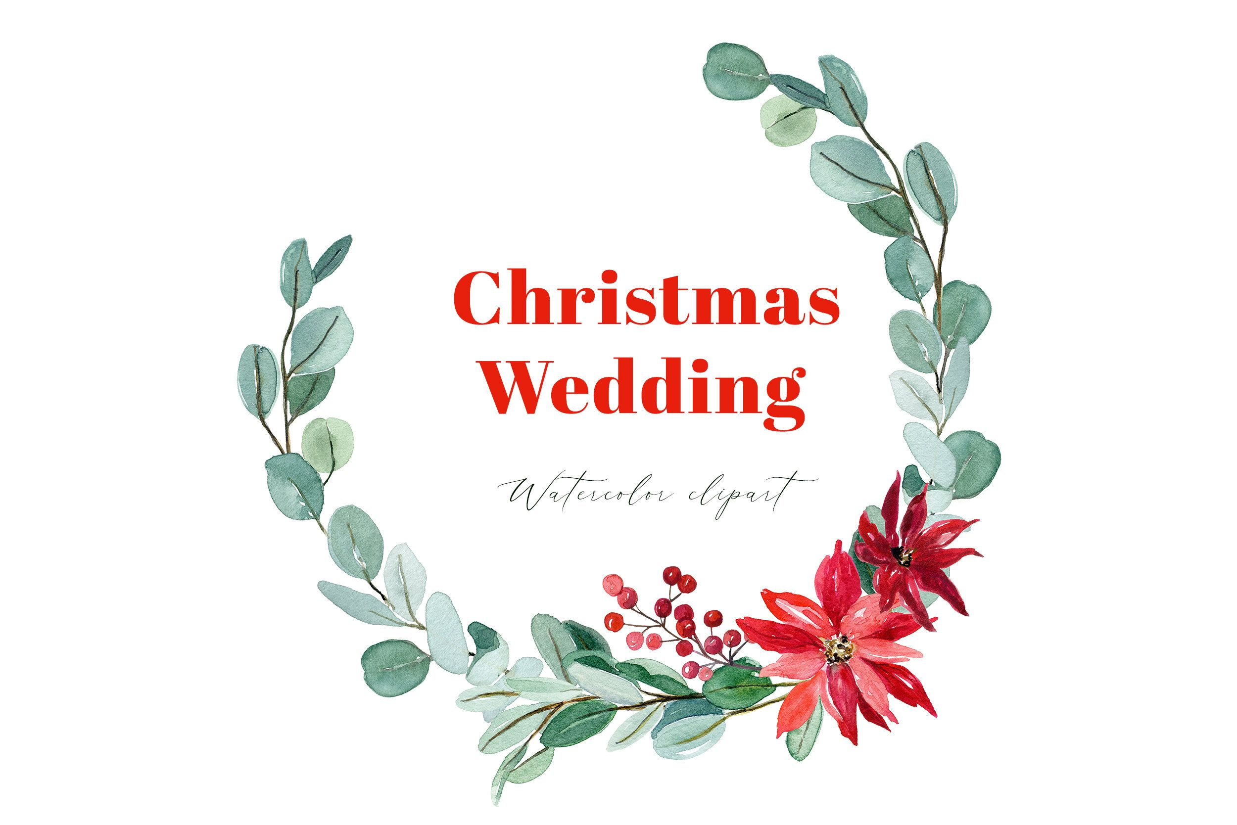 Christmas Wedding Wreath Watercolor Wreath Png Etsy Wreath Watercolor Christmas Watercolor Christmas Clipart