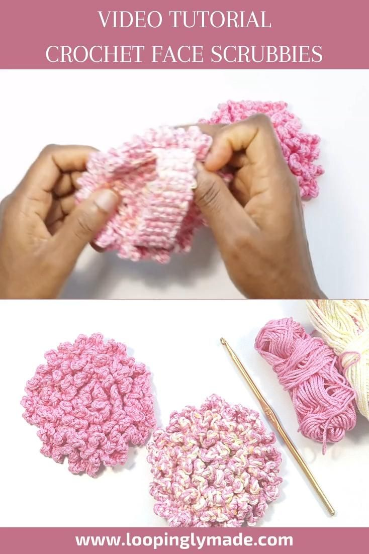 Crochet Face Scrubbies with Handle
