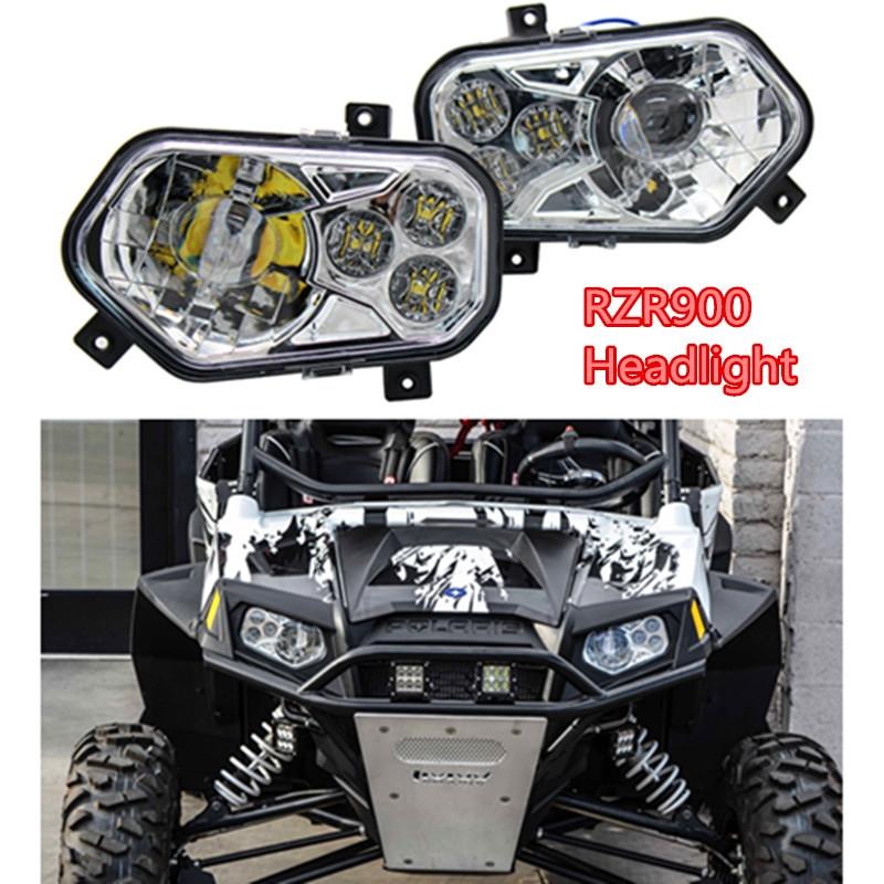 159.06$  Buy now - http://ali3j6.worldwells.pw/go.php?t=32774898064 - RZR900 Pair ATV UTV Light Accessories Projector Headlight LED Headlamp Kit + rewards card point for Polaris Ranger Side X Sides  159.06$