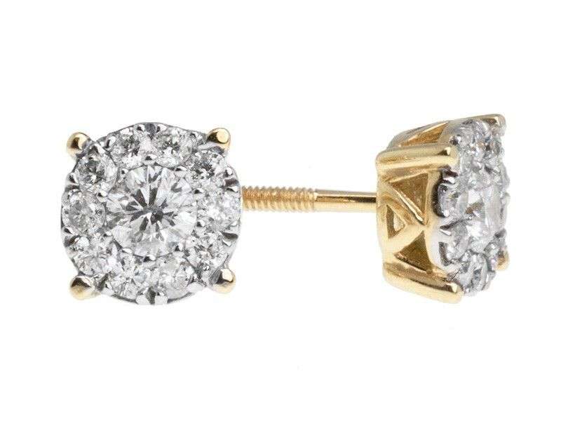 Lovely Invisible Set Diamond Earrings Check More At Http Lascrer
