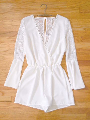 First Light Lace Romper