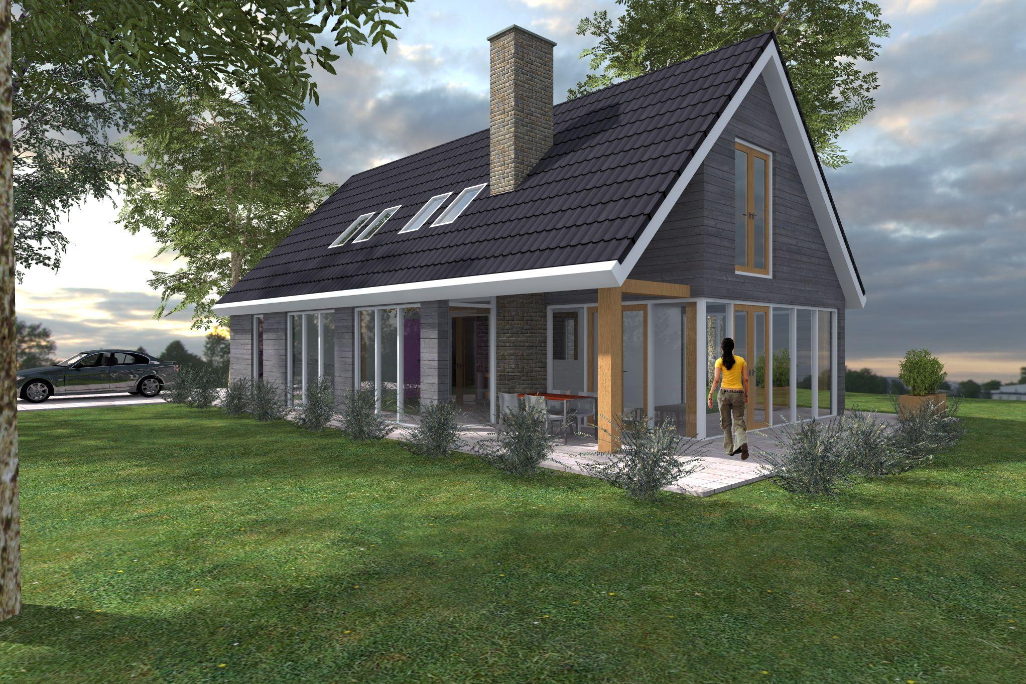 Schuurwoning buitenhuis villabouw casa de campo pinterest huizen mooie huizen en modern - Meer mooie houten huizen ...