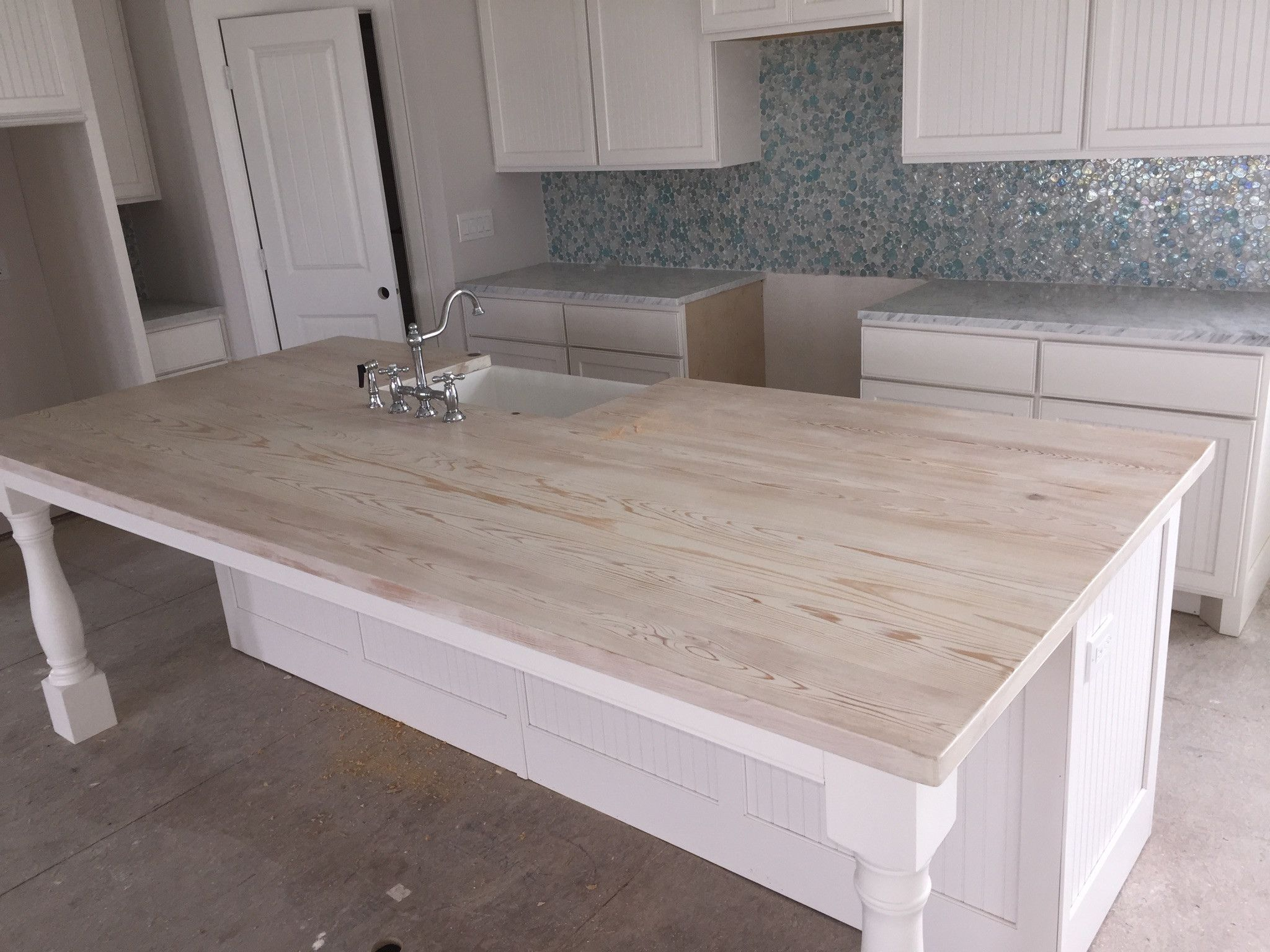 Whitewash Butcher Block Countertop Unique Add Ons In 2019