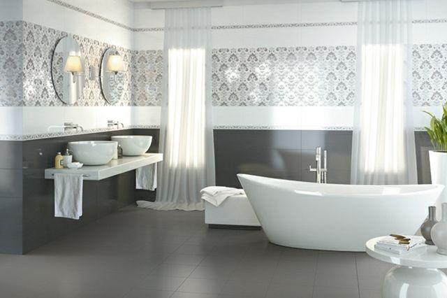 Pinterest u2022 The worldu0027s catalog of ideas - salle de bain carrelage gris et blanc