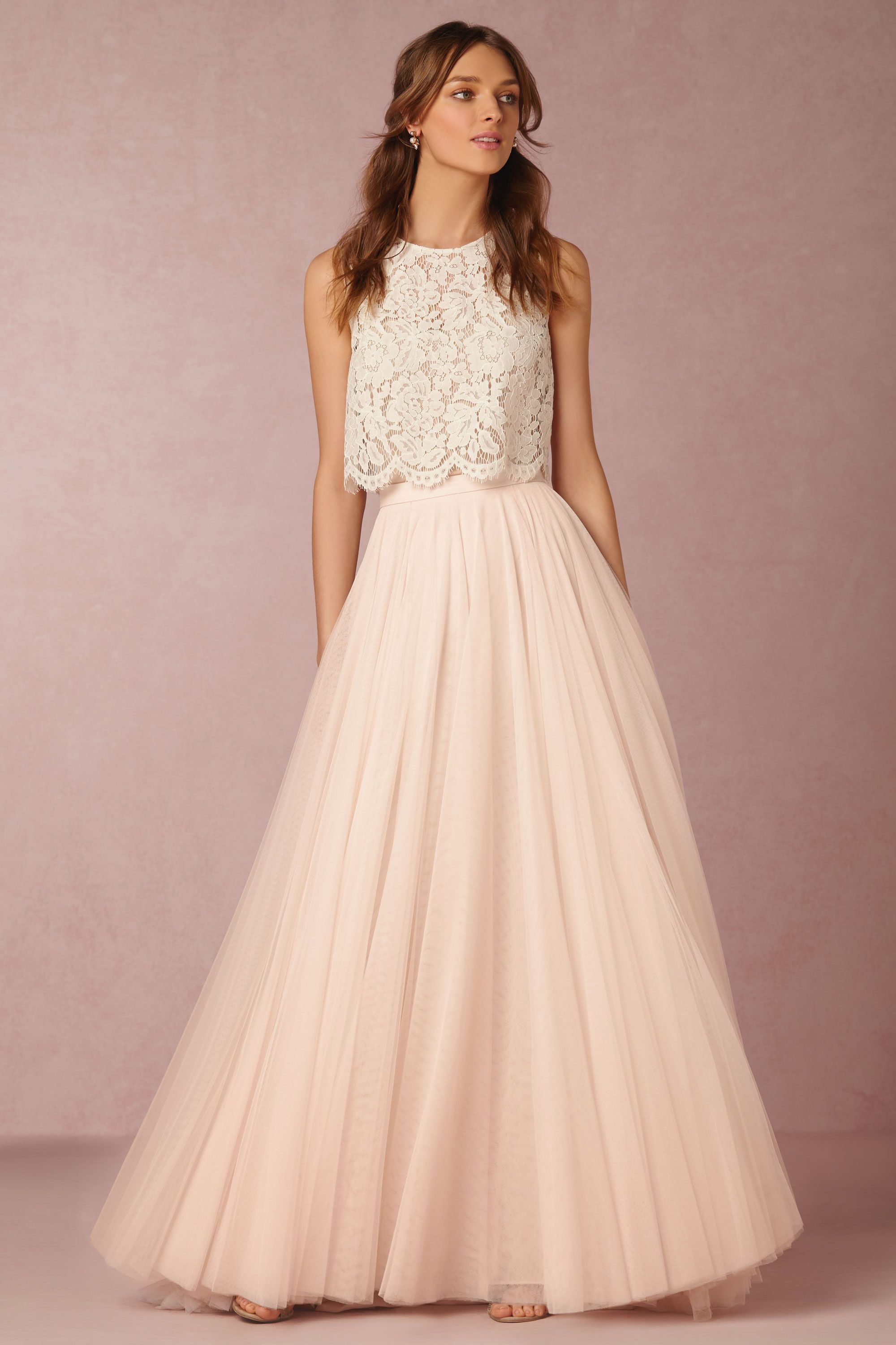 Best beach wedding dresses for guests  BHLDN Cleo Top in Bridesmaids Bridesmaid Separates  BHLDN  Classic