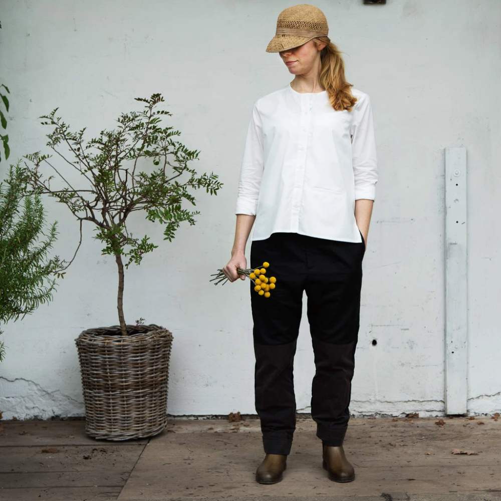 Daisy Tailored Work Trouser Jet Black Work Trousers Trousers Relaxed Fit